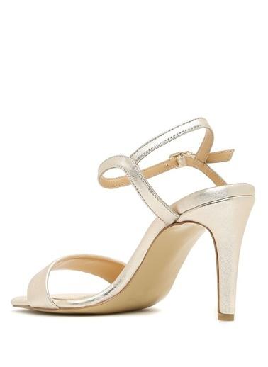 Belle Epoque İnce Topuklu Sandalet Altın
